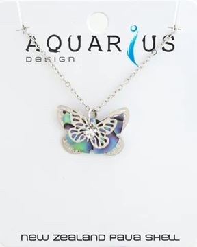 Picture of Paua multi butterfly pendant
