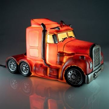 Picture of Truck red table lamp