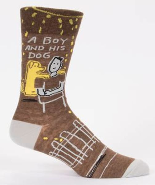 Picture of Mens a boy and his dog socks