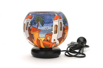 Picture of 15cm lamp santorini sunset