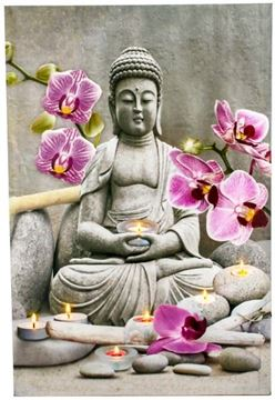 Picture of Light up picture buddha