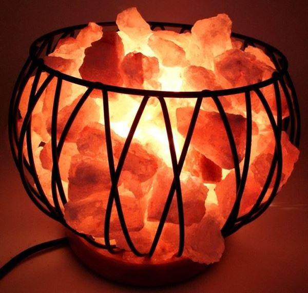 Picture of Himalayan salt lamp metal cage