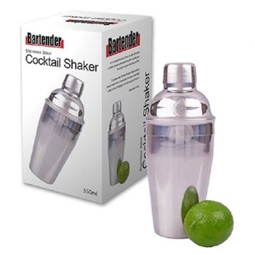 Picture of Stainless steel cocktail shaker 550ml