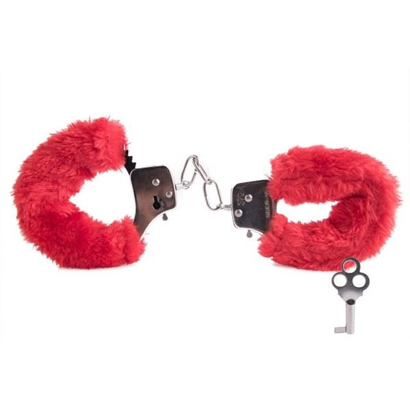 Picture of Furry love cuffs red