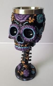 Picture of Goblet skull floral