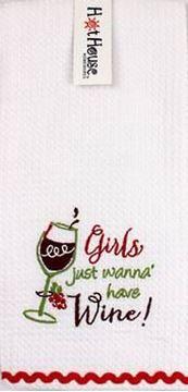 Picture of Tea towel wine girls