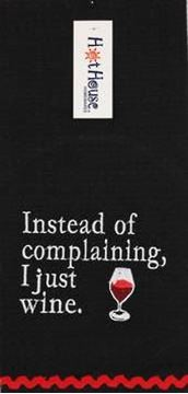 Picture of Tea towel wine complain