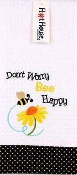 Picture of Tea towel bee happy
