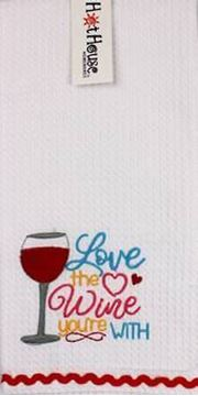 Picture of Tea towel wine love