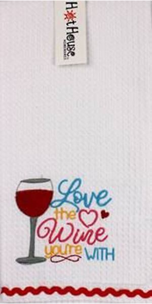 Picture of Tea towel wine love