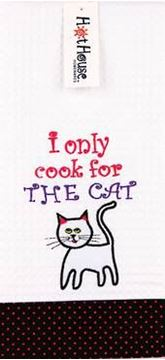 Picture of Tea towel cook for cat