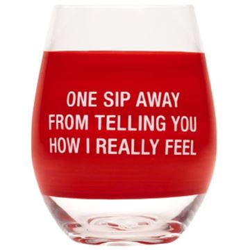 Picture of Wine glass one sip away
