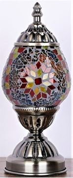 Picture of Turkish oval mosaic lamp