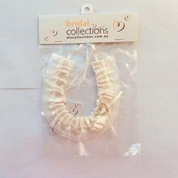 Picture of Cream satin heart horseshoe