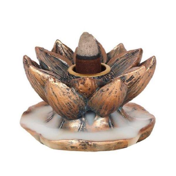Picture of Bronze lotus backflow burner