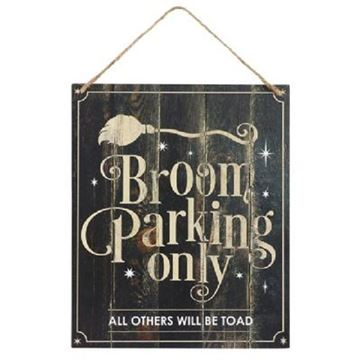 Picture of Broom parking sign