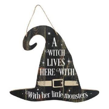 Picture of A witch lives here sign