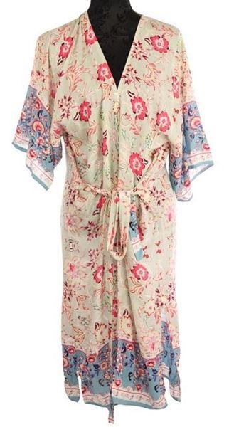 Picture of Floral border kimono
