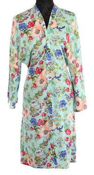 Picture of Aqua flowers kimono