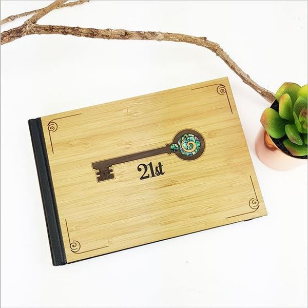 Picture of Guest book 21st key paua