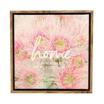 Picture of Flourish home framed canvas