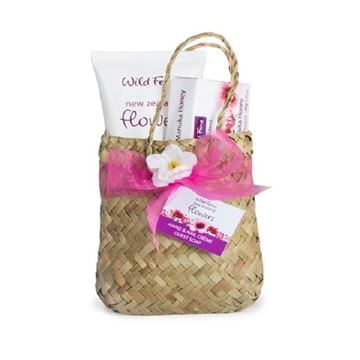 Picture of Woven basket flowers set