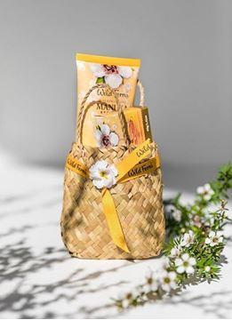Picture of Woven basket manuka honey set