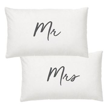 Picture of Mr & mrs pillow case set