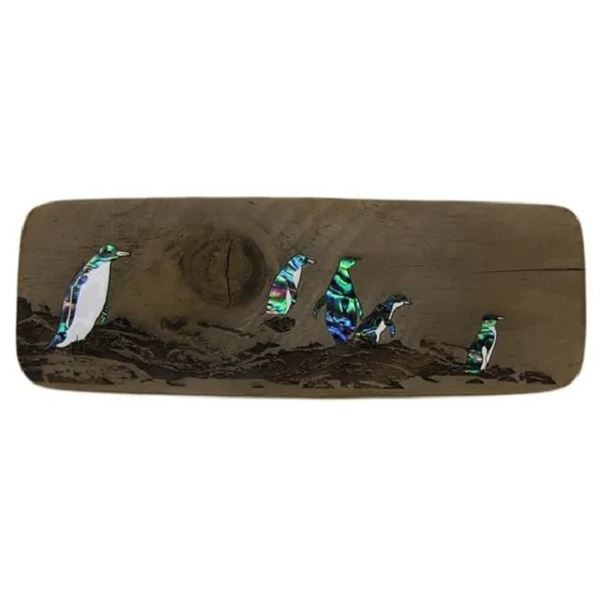 Picture of Paua penguin driftwood