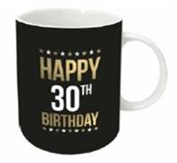 Picture of Gold foil 30th mug