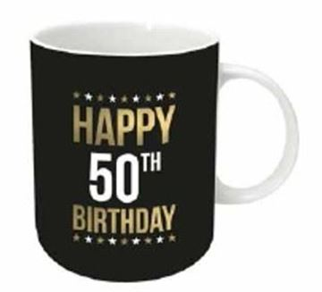 Picture of Gold foil 50th mug