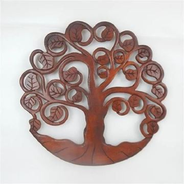 Picture of Carved tree of life brown
