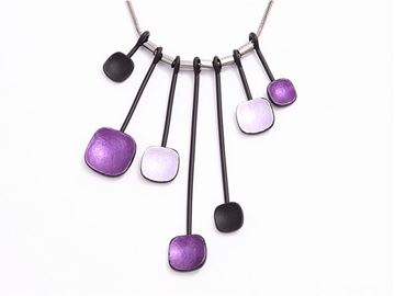 Picture of Purple beads silver pendant