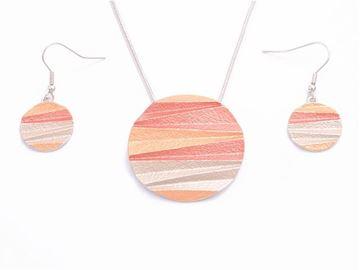 Picture of Orange round pendant set