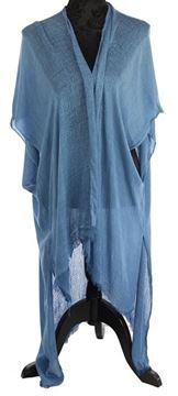 Picture of Cobalt multi texture long cape