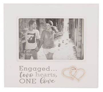 Picture of 6x4 silver engagement frame