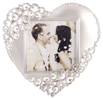 Picture of Silv satin heart frame 3x3