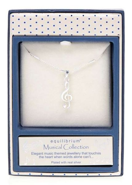 Picture of EQ music note necklace