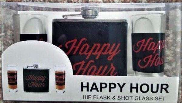 Picture of Happy hour hip flask gift set