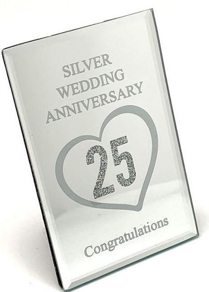Picture of Silver anniversary plaque