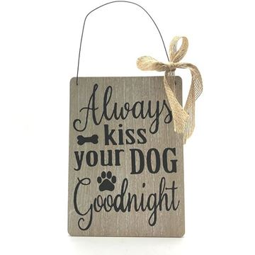 Picture of Sign kiss dog