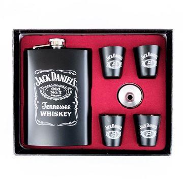 Picture of Hip flask set jack daniels