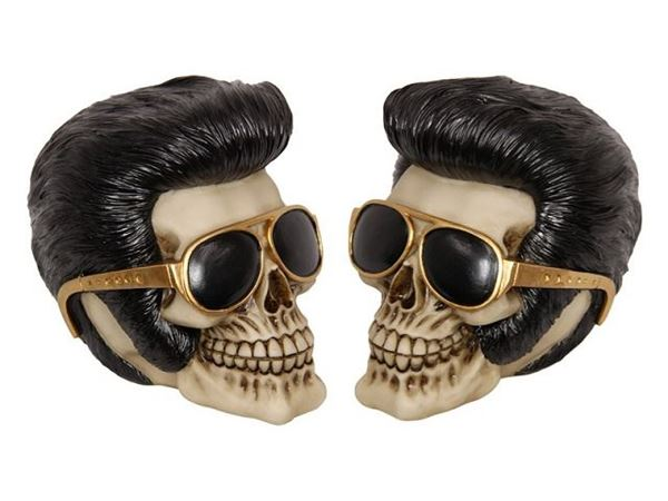 Picture of Elvis skull with gold specs