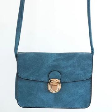 Picture of Blue buckle handy bag