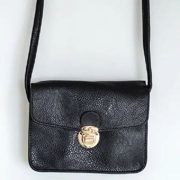 Picture of Black buckle handy bag