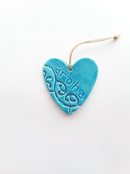 Picture of Heart aroha blue