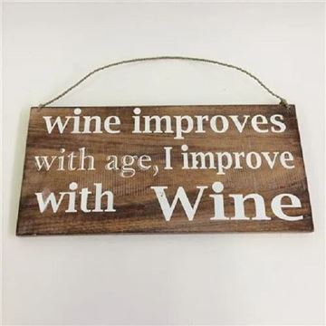 Picture of Wall sign wine improves