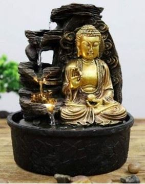 Picture of Water feature buddha gold
