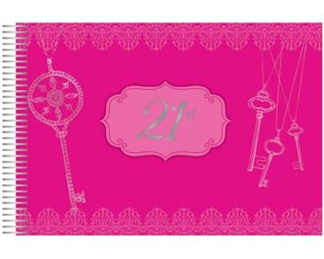 Picture of Keepsake book 21st pink
