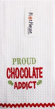 Picture of Tea towel chocolate addict